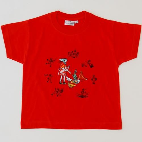 Shirt Flurina, gestickt, Kurzarm
