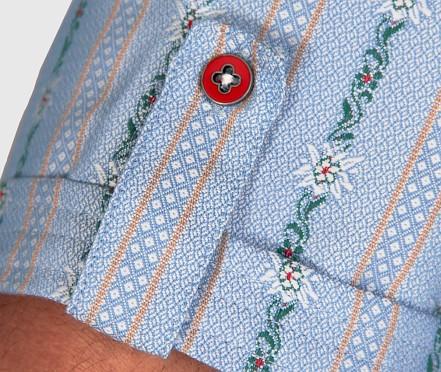 Edelweisshemd coolmax, anthrazit, Kent Kragen, Kurz Arm