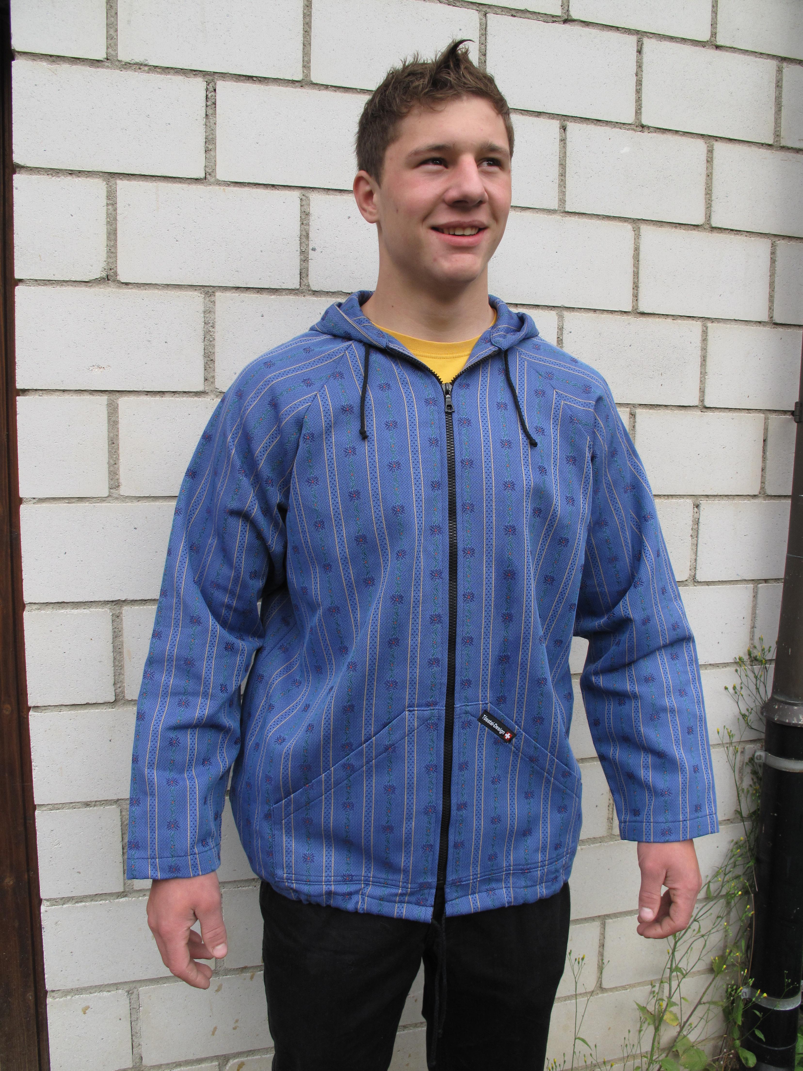 Edelweiss Kapuzenjacke dunkelblau
