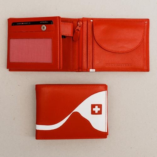 Portemonnaie rot/weiss, Matterhorn 8x10cm