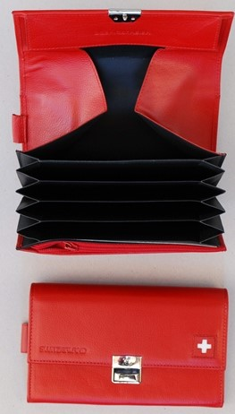 Service Portemonnaie mit Halfter rot & schwarz