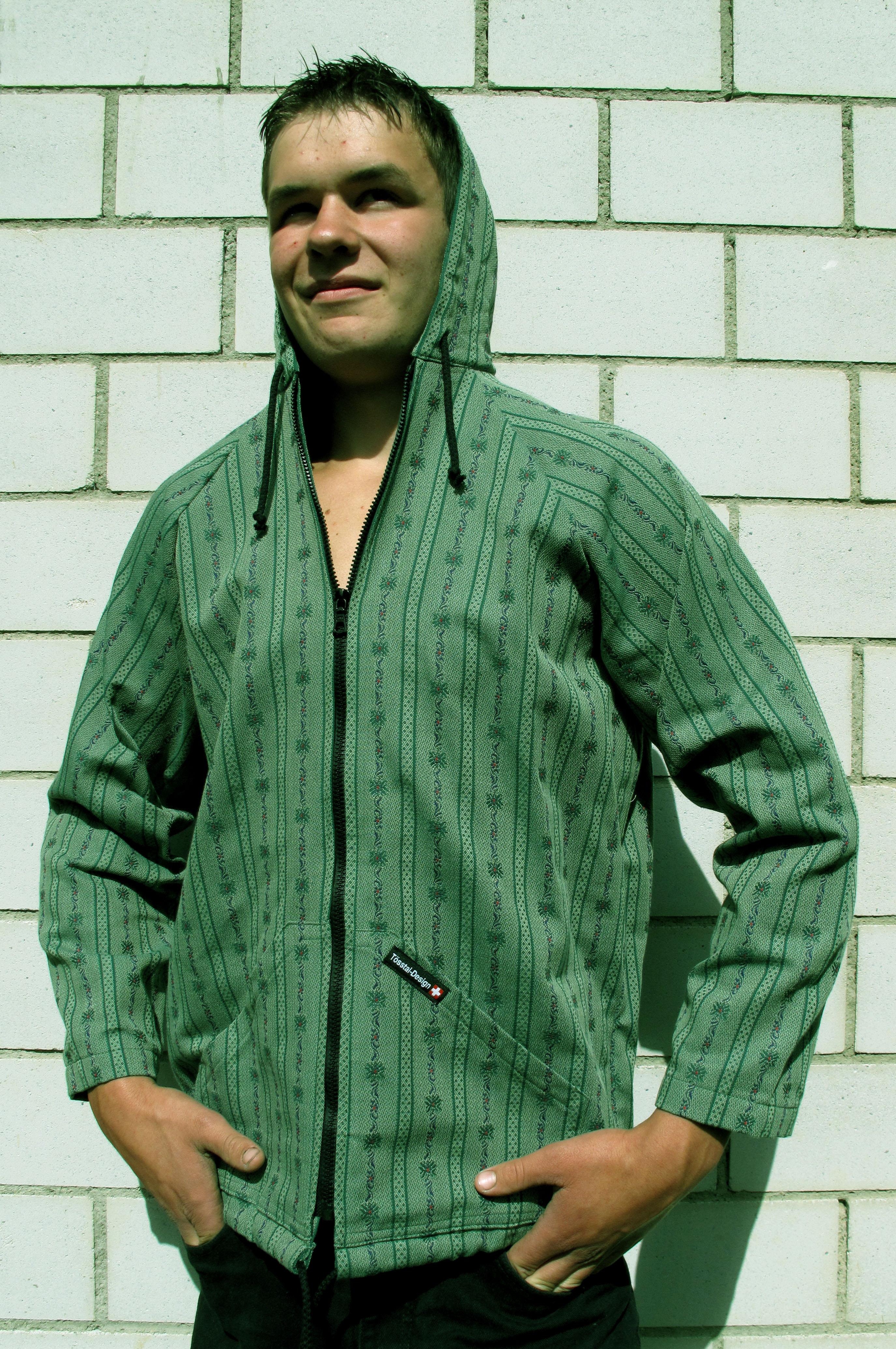 Edelweiss Kapuzenjacke dunkelgrün