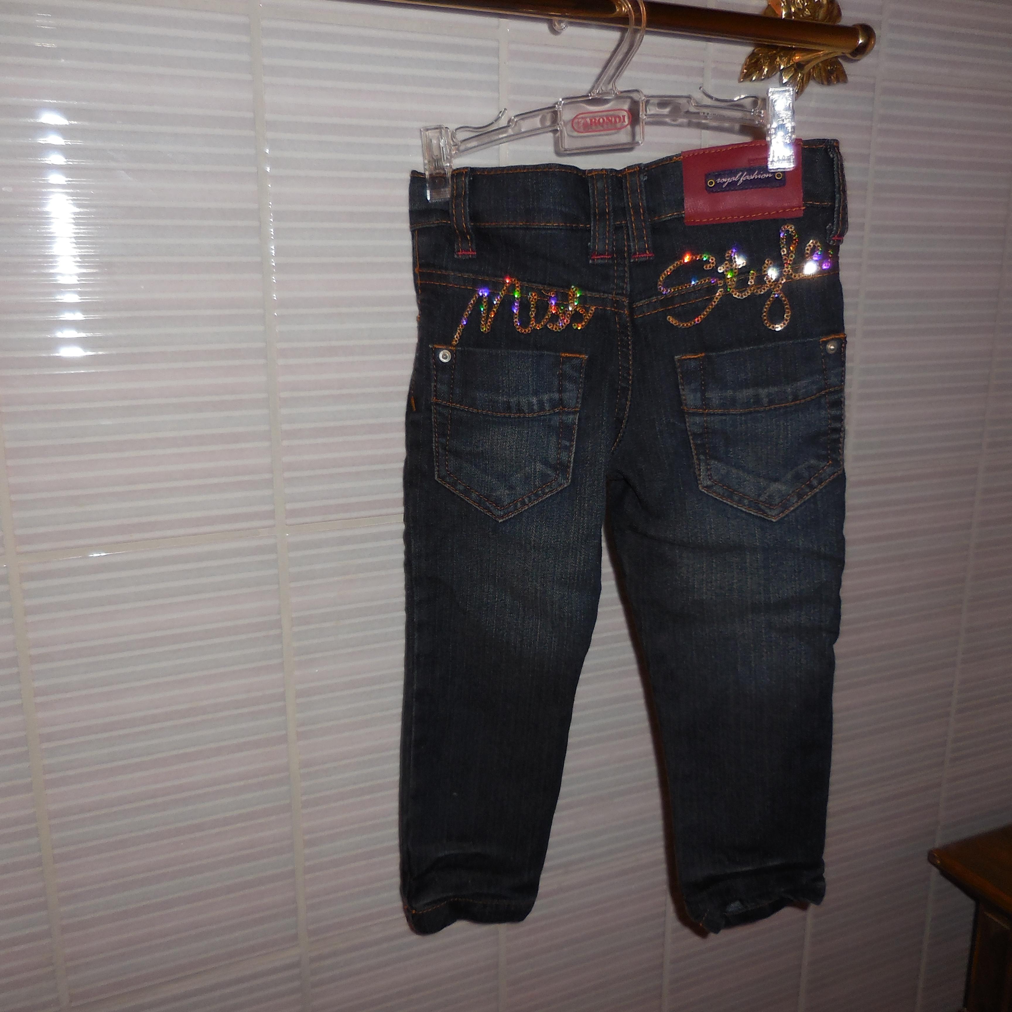 Jeans für Mädchen mit Stickerei