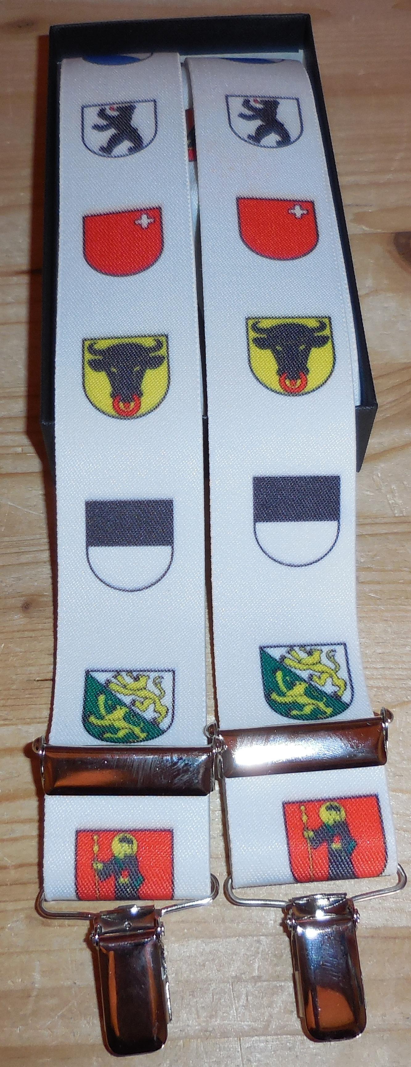 Hosenträger mit CH Kantons Wappen