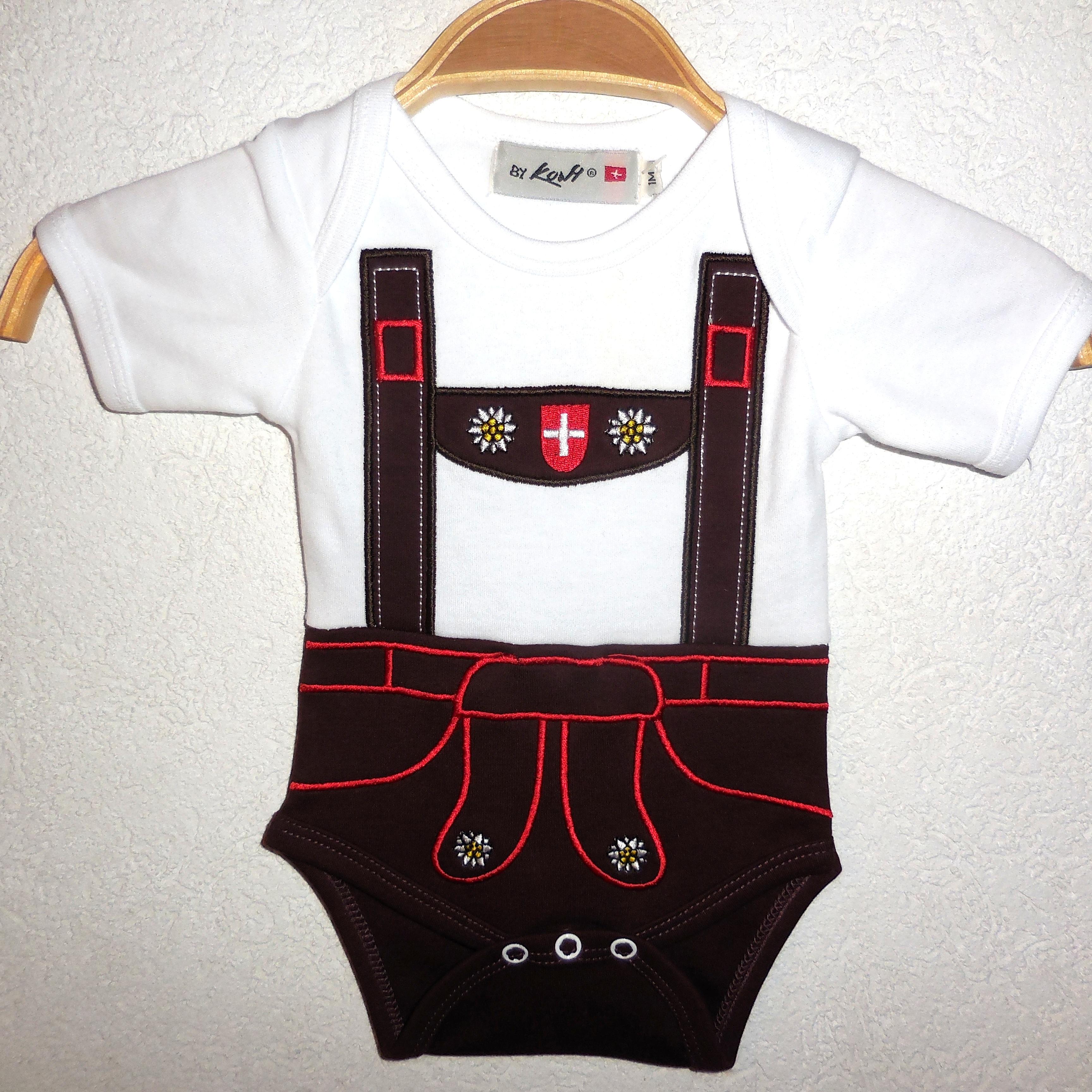 Baby Body  Oktoberfest Lederhosen, Kurzarm