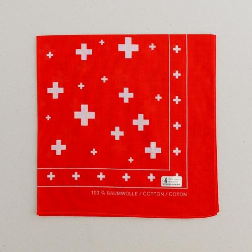 Nichytuch rot, Schweizer Kreuz 53x53cm
