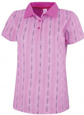 Edelweiss Polo Shirt Damen, pink, Kurzarm