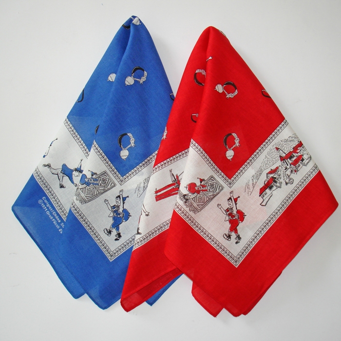 Nickytuch Schellen Ursli, rot und blau
