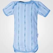 Edelweiss Baby Body, hellblau, Kurzarm