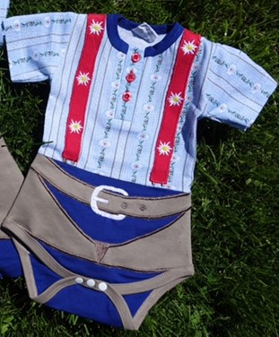 Baby Body Schwinger Outfit