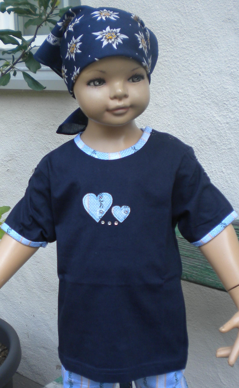 Shirt dunkelblau Edelweiss Herz