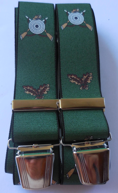 Hosenträger für Jagdschützen, grün