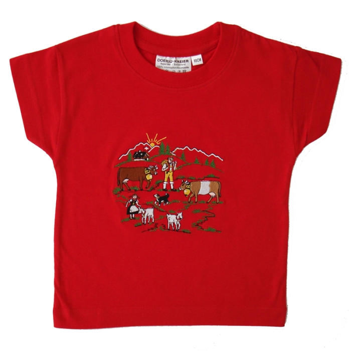 Shirt mit Stickere Alpaufzug
